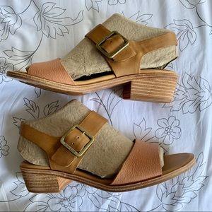 Kork-Ease Myakka Leather Block Heel Sandal Size 11
